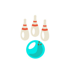 bowling cute cartoon icon vector image
