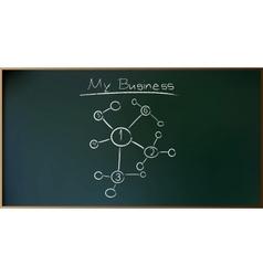 Business Plan on Schoolboard in vector