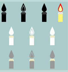 candle different colour it is icon vector image