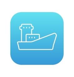 Cargo container ship line icon vector image