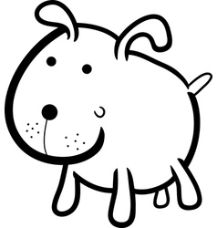 cute dog for coloring book vector image