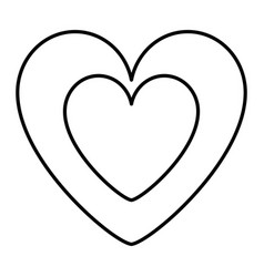 cute heart in love decoration vector image
