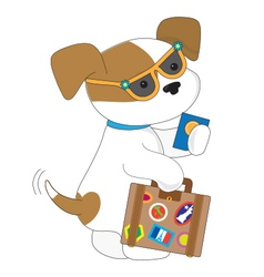 Cute Puppy Travel vector image