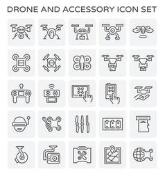 Drone accessory icon vector