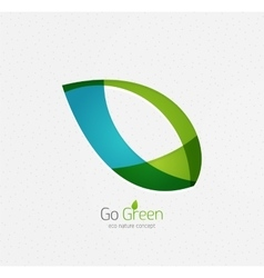 Eco nature leaf go green environmental concept vector image