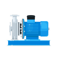 End-suction circulating water pump isolated vector