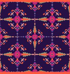 Ethnic seamless pattern aztec geometric vector