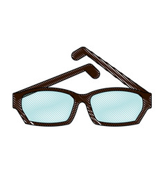 fashion lens glasses vector image