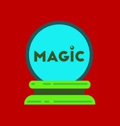 Flat icon on stylish background magic ball vector
