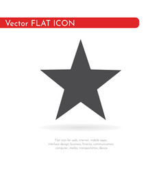 flat icon star for web business finance and vector image