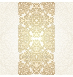 Floral frame background in arabic motif vector
