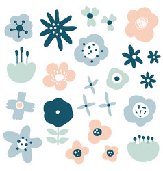 flower simple minimalistic set vector image
