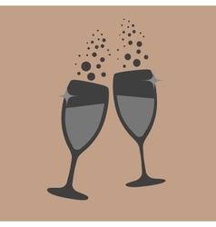 Glasses champagne vector