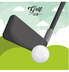 golf club ball poster vector image