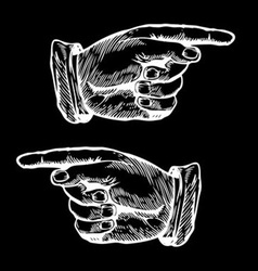 Hands Pointing to the Left and Right vector