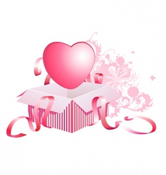 heart in box vector image