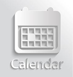 Icon calendar vector image