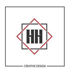 Initial hh letter logo template design vector