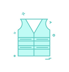 Jacket labour icon design vector