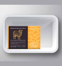 Lamb abstract plastic tray container cover vector