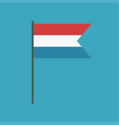 luxembourg flag icon in flat design vector image