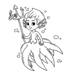 male mermaid vector image