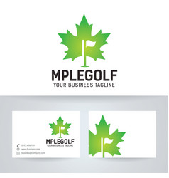maple golf logo design vector image