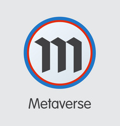 metaverse - crypto currency pictogram symbol vector image