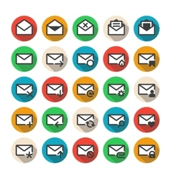 Multicolored mail icons vector image