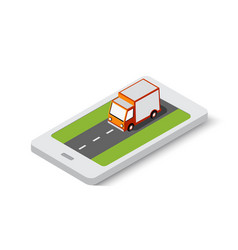 online delivery transport transportation of vector image