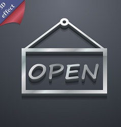 open icon symbol 3D style Trendy modern design vector image