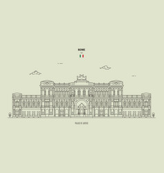 palace justice in rome italy vector image
