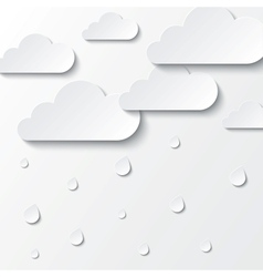 Paper white clouds on white Paper sky vector image