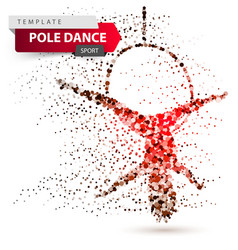 pole dance exotic striptease - dot vector image