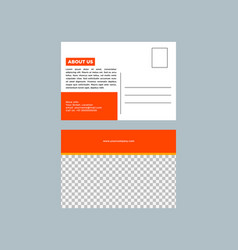 Post card design template vector