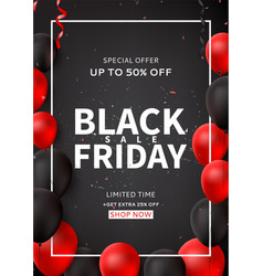 promo poster for black friday sale vector image