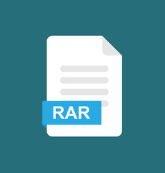 rar format file icon symbol vector image