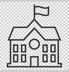 school building icon in flat style college vector image