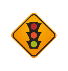 semaphore traffic lights warning sign vector image