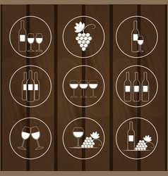 set icons for wine shops vector image