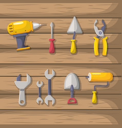 Set labor tools to professional employers vector