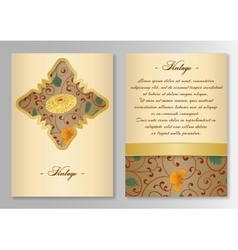 Set of brochure poster templates Vintage style vector