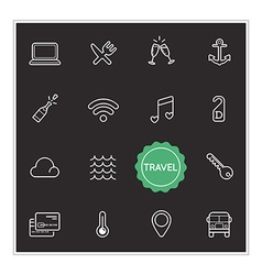 Set of Travel Holiday Elements can be used as Logo vector image