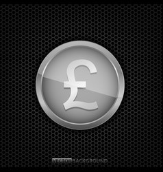 silver pound label vector image