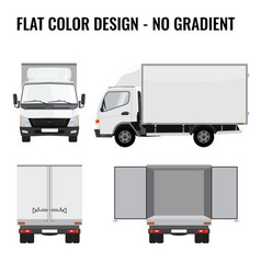 Small truck front side cargo delivery vector