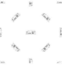 taipei city pattern seamless vector image