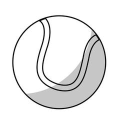 tennis ball equipment - shadow vector image