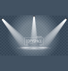 three hanging spotlights design with direction of vector image
