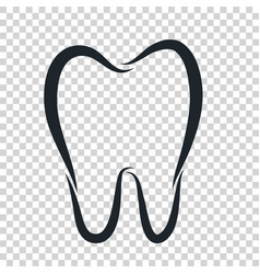 tooth logo icon for dentist or stomatology dental vector image