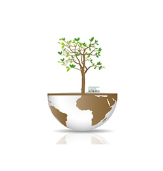 Tree on a globe vector image